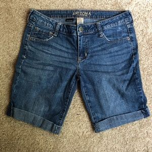 Arizona Blue Jean Rolled Hem Bermuda Shorts